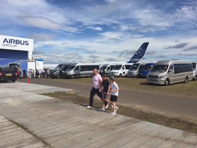 coach exhibitor transfer airbus farnborough